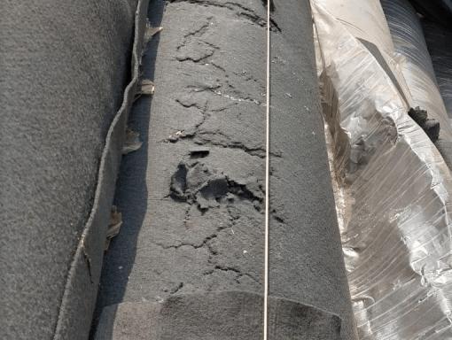 Geotêxtil Deteriorado